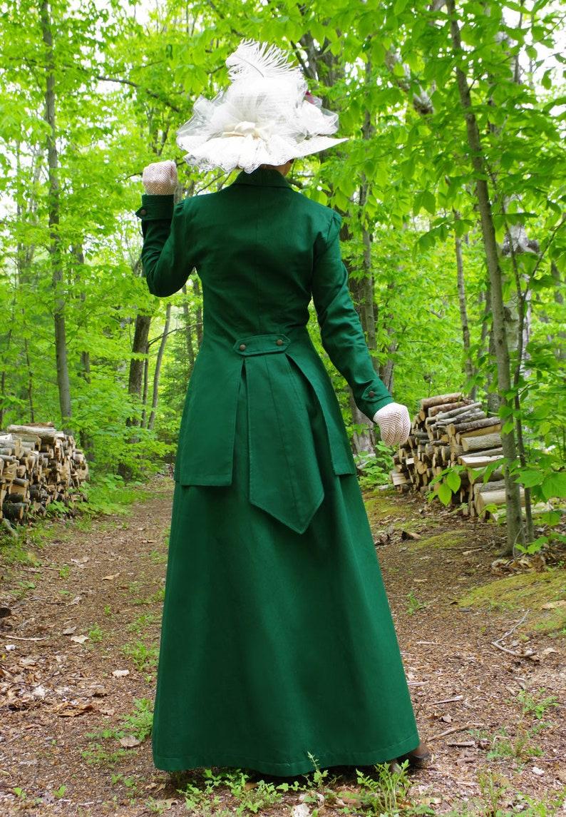 1900s Edwardian Dresses, 1910s Dresses Hyacinth Edwardian Inspired Long Jacket with Matching Skirt $199.95 AT vintagedancer.com