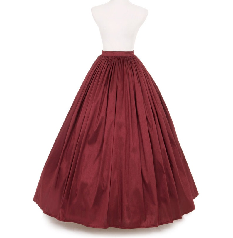 Victorian Clothing, Costumes & 1800s Fashion Dupioni Civil War Styled Skirt $89.95 AT vintagedancer.com