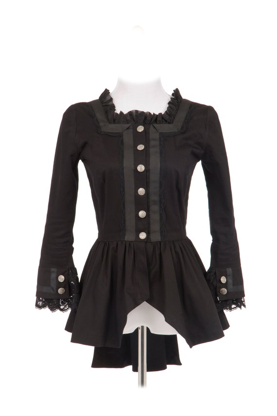 Steampunk Tops | Blouses, Shirts Misha Victorian Steampunk Twill Jacket $113.00 AT vintagedancer.com