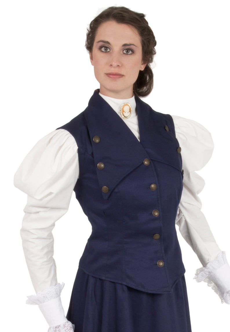 Victorian Blouses, Tops, Shirts, Vests, Sweaters     Read the full title    Edwardian Twill Vest $89.95 AT vintagedancer.com