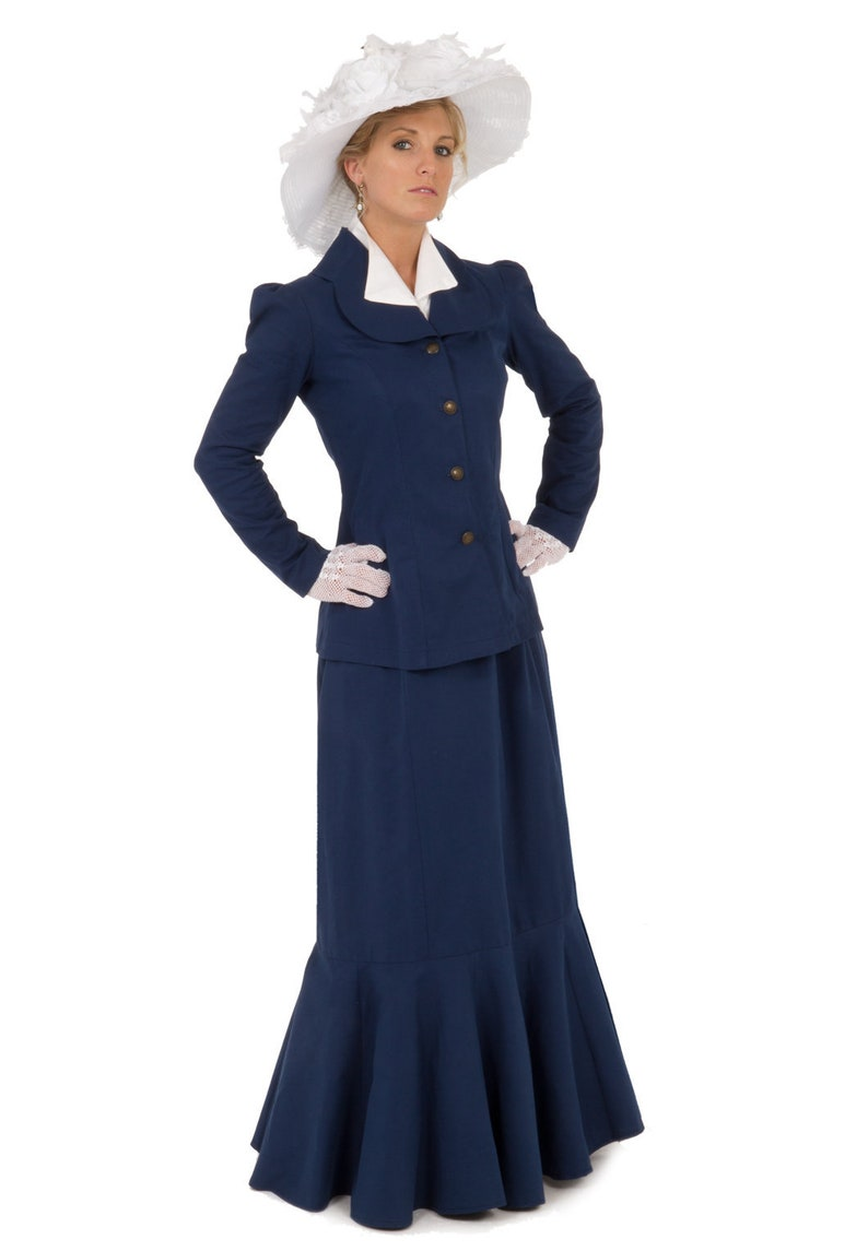 1900 -1910s Edwardian Fashion, Clothing & Costumes Edwardian Suit $239.95 AT vintagedancer.com