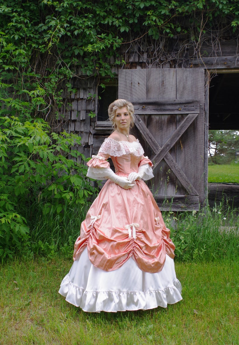 Victorian Dresses | Victorian Ballgowns | Victorian Clothing Arabella Silk Victorian Ball Gown $329.95 AT vintagedancer.com