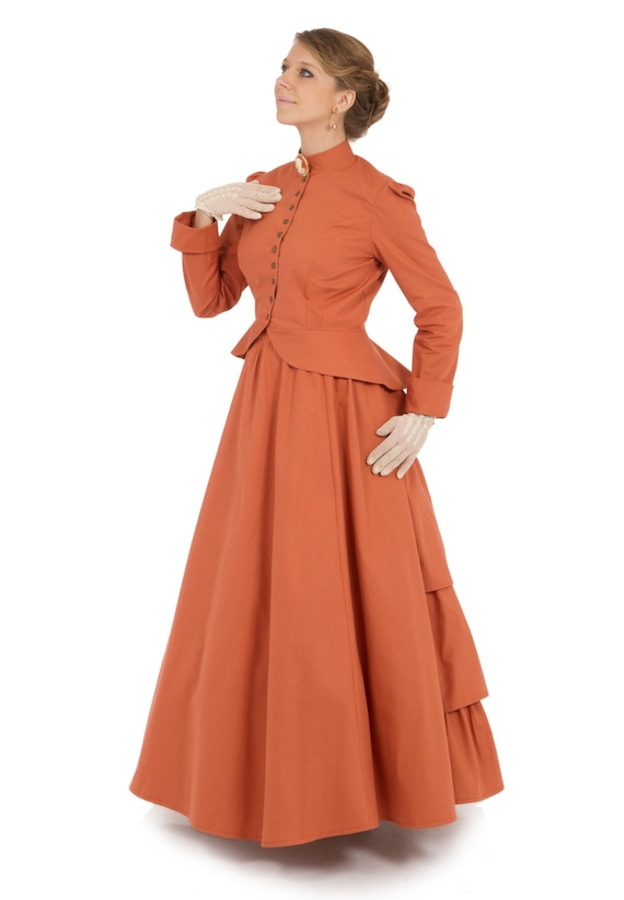Victorian Dresses | Victorian Ballgowns | Victorian Clothing 1880 Sarah Ann Victorian Twill Suit $203.00 AT vintagedancer.com