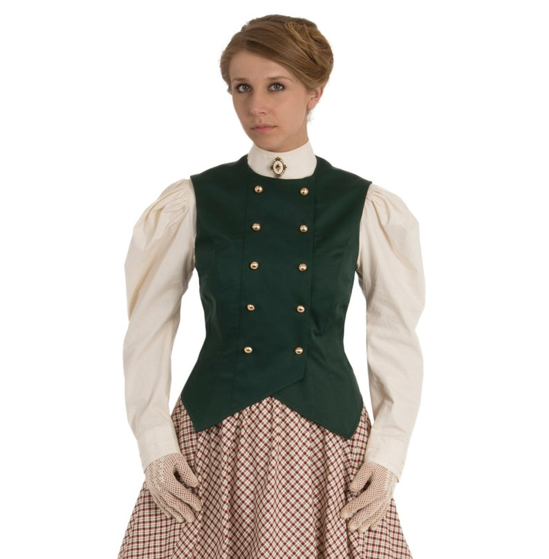 Victorian Blouses, Tops, Shirts, Vests, Sweaters     Read the full title    Double-Breasted Victorian Vest $89.95 AT vintagedancer.com