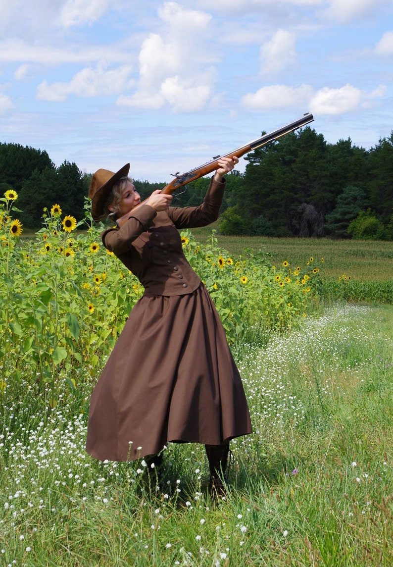 Victorian Clothing, Costumes & 1800s Fashion Annie Oakley Victorian Old West Suit $179.95 AT vintagedancer.com