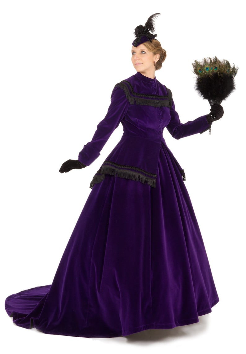 Victorian Dresses | Victorian Ballgowns | Victorian Clothing Civil War 160277-80251 Lucretia Victorian Set $399.95 AT vintagedancer.com