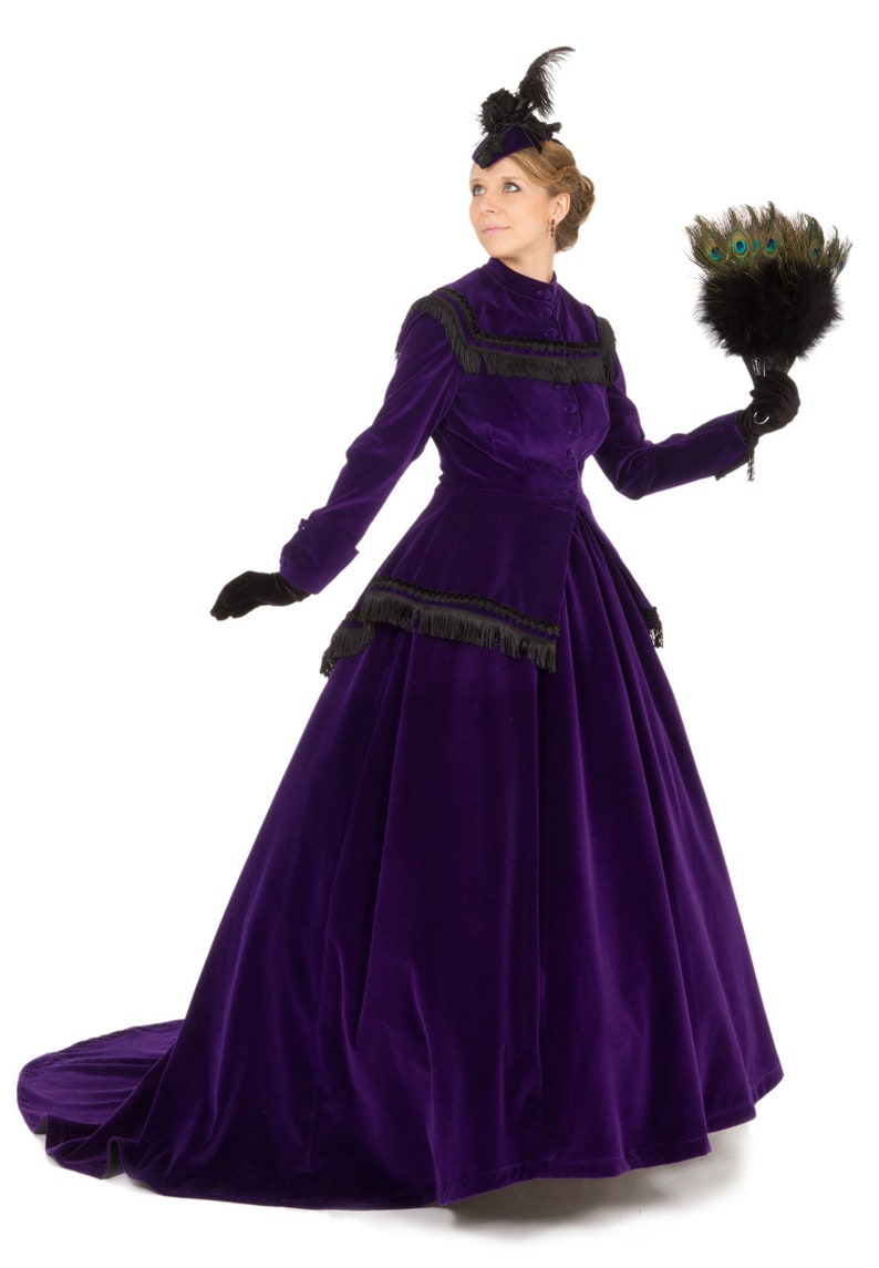 Old Fashioned Dresses | Old Dress Styles Civil War 160277-80251 Lucretia Victorian Set $399.95 AT vintagedancer.com