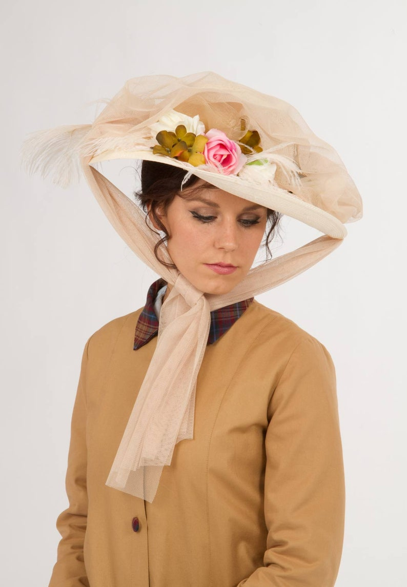 Edwardian Hats, Titanic Hats, Tea Party Hats Edwardian Automobile Hat $89.95 AT vintagedancer.com