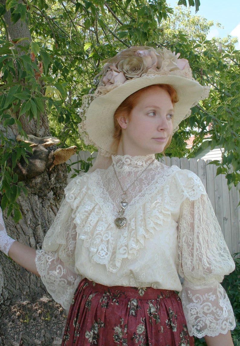Edwardian Blouses |  Lace Blouses & Sweaters Avonlea Edwardian Blouse Recollections $119.95 AT vintagedancer.com