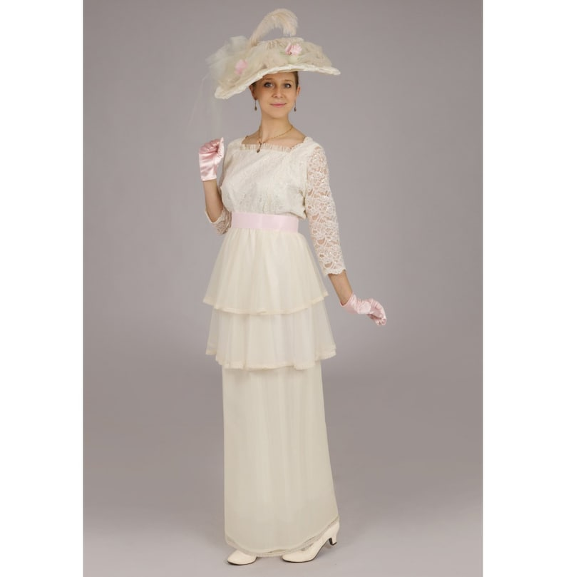 Titanic Fashion – 1st Class Women's Clothing Dominique Edwardian Gown $219.95 AT vintagedancer.com