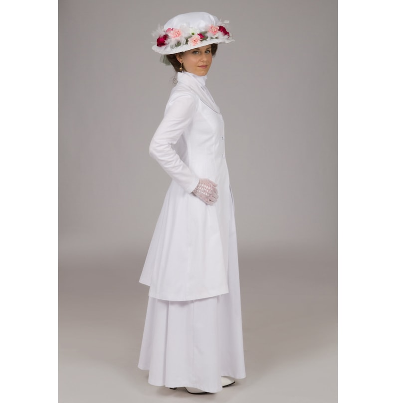 1900 Edwardian Dresses, Tea Party Dresses, White Lace Dresses Honora Edwardian Suit $219.95 AT vintagedancer.com