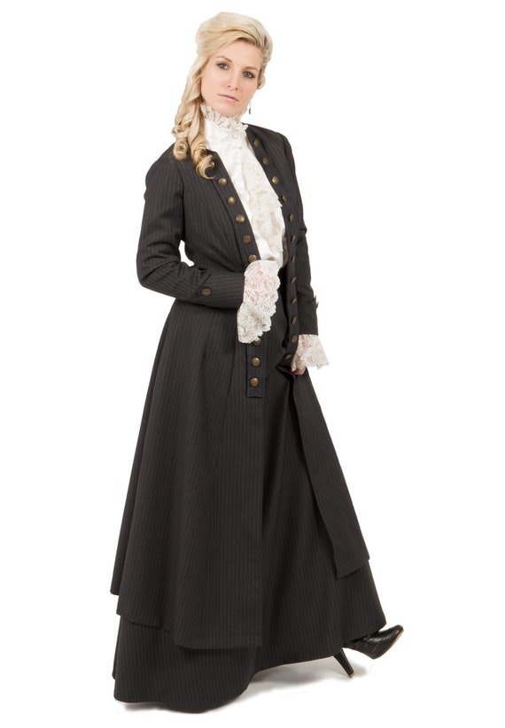91107 Skirt Pinstripe Edwardian 9 and Jacket 8 Eastham Long rvA8rqf
