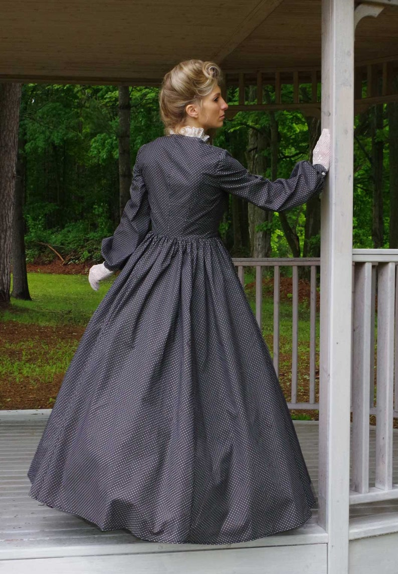 Victorian Dresses | Victorian Ballgowns | Victorian Clothing  Penelope Victorian Dickens Style Cotton Dress $179.95 AT vintagedancer.com