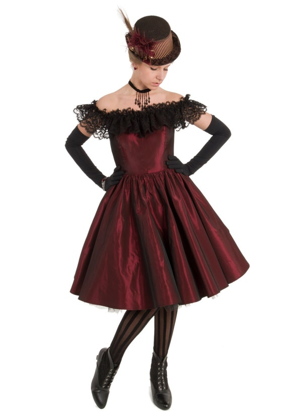 Victorian Dresses, Clothing: Patterns, Costumes, Custom Dresses Dixie Old West Saloon Dress $113.00 AT vintagedancer.com