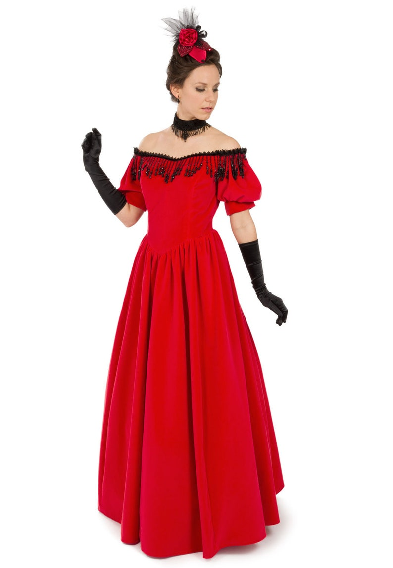 Old Fashioned Dresses | Old Dress Styles Victorian Velvet Gown $329.95 AT vintagedancer.com