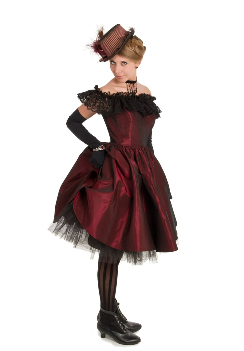 Vintage Inspired Halloween Costumes Dixie Old West Saloon Dress $119.96 AT vintagedancer.com