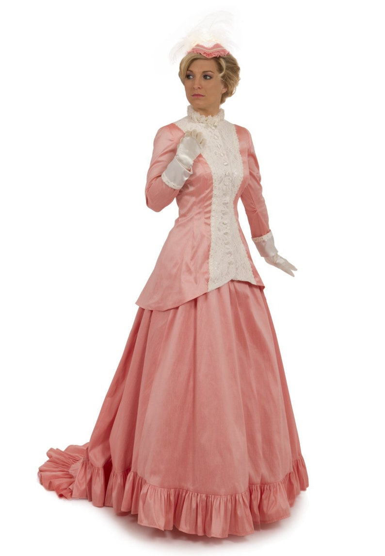 Victorian Dresses | Victorian Ballgowns | Victorian Clothing Victorian Style Dupioni Ensemble $299.95 AT vintagedancer.com