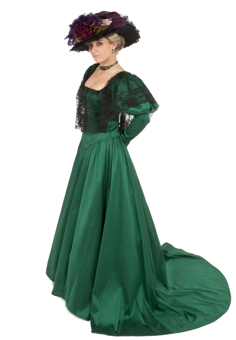 Vintage Tea Dresses, Floral Tea Dresses, Tea Length Dresses Sophronia Edwardian Gown $249.95 AT vintagedancer.com