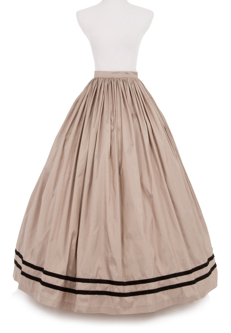 Victorian Costumes: Dresses, Saloon Girls, Southern Belle, Witch Civil War Dupioni Skirt $119.96 AT vintagedancer.com