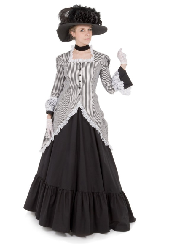 Victorian Dresses, Clothing: Patterns, Costumes, Custom Dresses Madison Victorian Polonaise Dress $225.00 AT vintagedancer.com