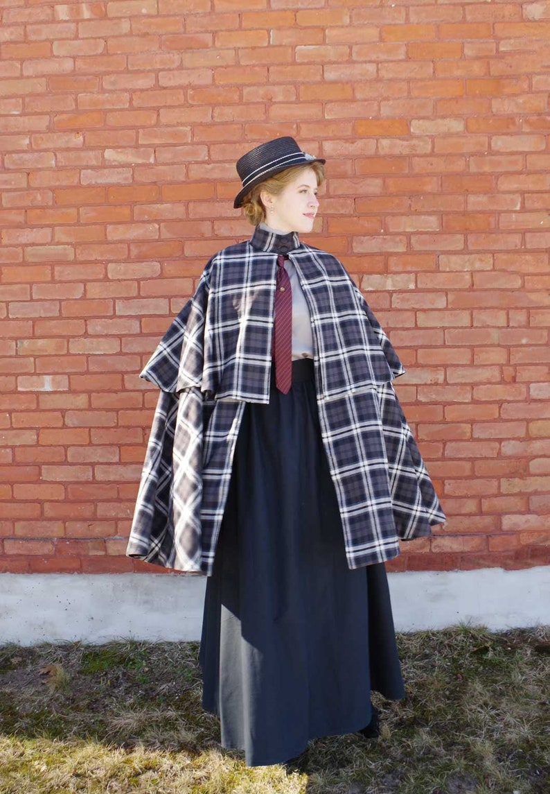 Steampunk Jacket   Steampunk Coat, Overcoat, Cape     Read the full title    Fiona Plaid Two Tiered Cape $219.95 AT vintagedancer.com