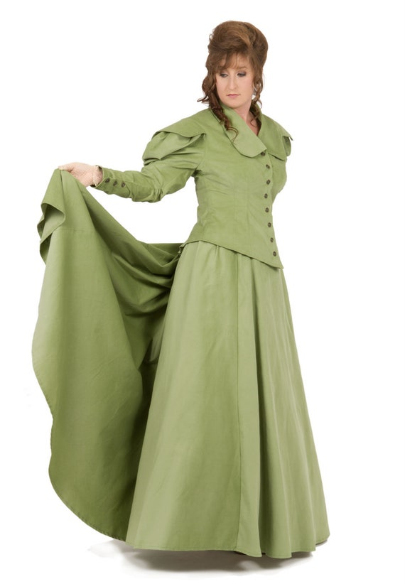 Old Fashioned Dresses | Old Dress Styles Victorian Corduroy Riding Suit $150.00 AT vintagedancer.com