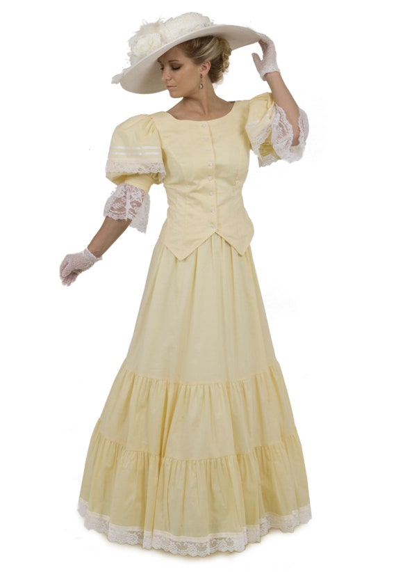Victorian Dresses, Clothing: Patterns, Costumes, Custom Dresses Belinda Victorian Top and Skirt $143.00 AT vintagedancer.com