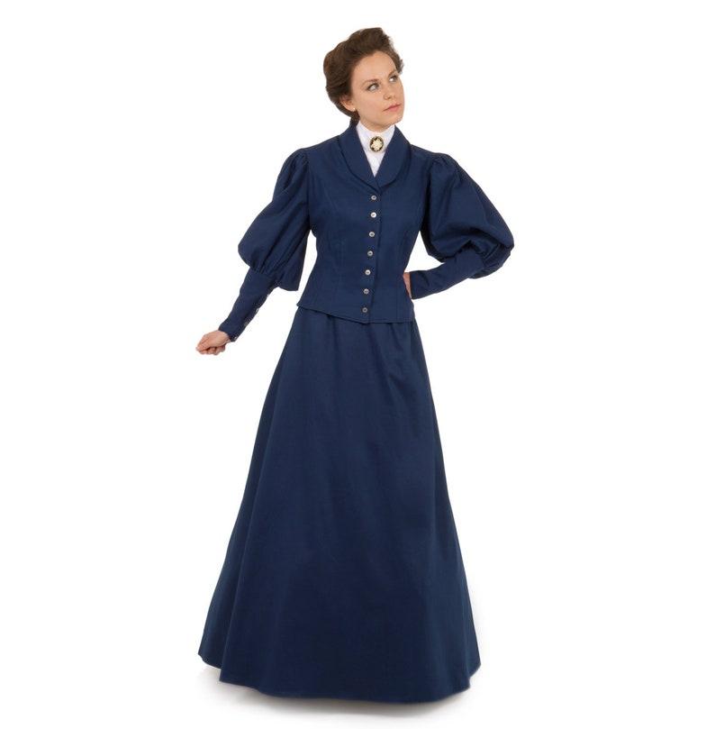 Vintage Tea Dresses, Floral Tea Dresses, Tea Length Dresses  Victorian Twill Suit 100770-1-1081 Victorian Twill Suit $179.95 AT vintagedancer.com