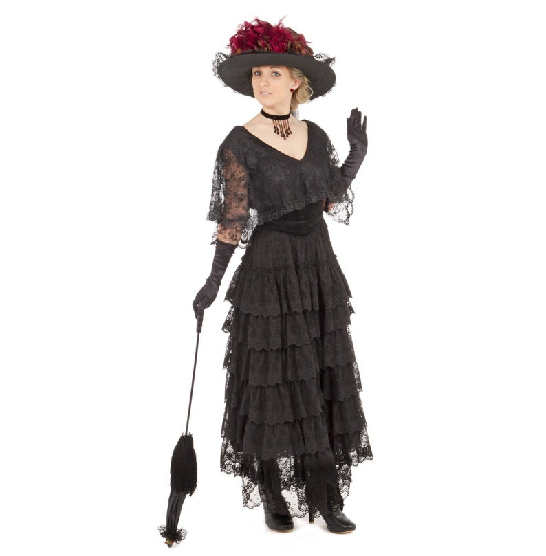 Victorian Plus Size Dresses | Edwardian Clothing, Costumes Hermione Edwardian Dress $359.95 AT vintagedancer.com