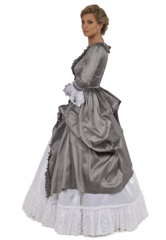 Victorian Dresses, Clothing: Patterns, Costumes, Custom Dresses Angelica Victorian Ball Gown $299.96 AT vintagedancer.com