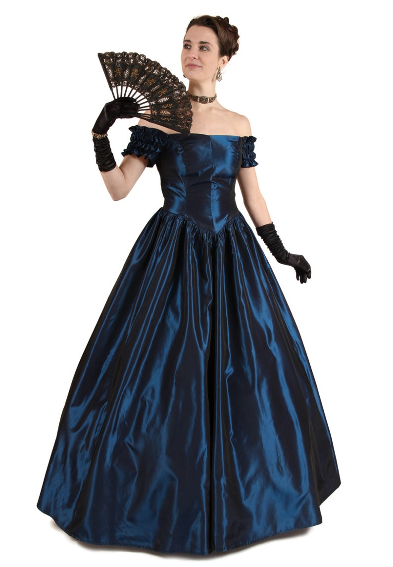 Old Fashioned Dresses | Old Dress Styles 1860 Chantelle Victorian Ball Gown $219.95 AT vintagedancer.com