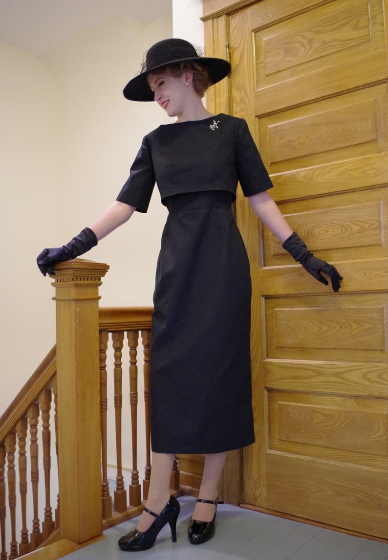 1960s Cocktail, Party, Prom, Evening Dresses Lucille 1950s Sheath Dress and Top $199.50 AT vintagedancer.com