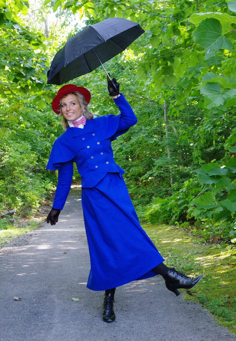 Victorian Edwardian Tea Dress and Gown Guide     Read the full title    Mary Poppins Victorian Nanny Suit $199.95 AT vintagedancer.com