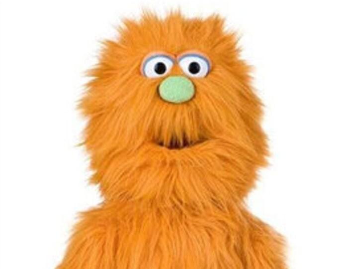 "New 30"" BIG MONSTER PUPPET w/ Cartoon Eyes - Professional Full Body Muppet Puppet w/ Arm Rod - Orange"