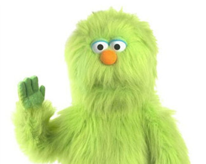 "New 30"" BIG MONSTER PUPPET w/ Cartoon Eyes - Professional Full Body Muppet Puppet w/ Arm Rod - Green"