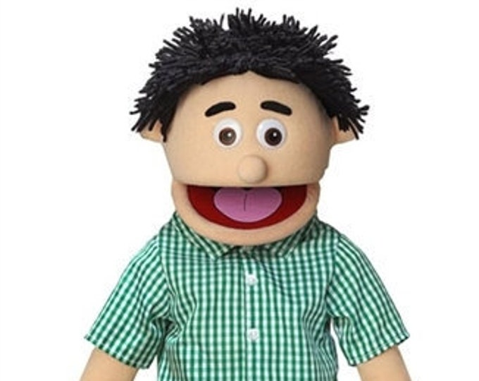 """New PUPPET! BIG 25"""" Professional Puppet - Boy, Teenager - Full Body Muppet Mouth Puppet with Arm Rod"""