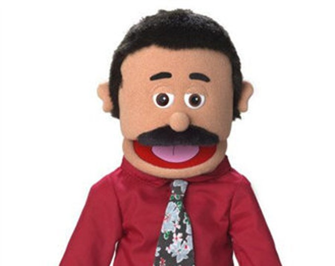 """New PUPPET! BIG 25"""" Professional Puppet - Dad, Pastor, Businessman - Full Body Muppet Mouth Puppet with Arm Rod"""