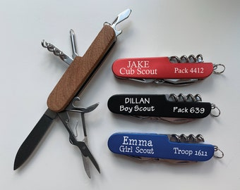 Boy Scout Gift, Cub Scout Gift, Boy Scout Knife, Personalized Pocket Knife, Whittling Chip Gift, Whittling Knife, Girl Scout, Scout Leaders