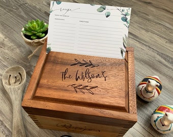 Gorgeous Wood Recipe Box   All Occasion Recipe Box for 4x6 Cards, Multiple Styles to Choose from @ Allaboutimpressions