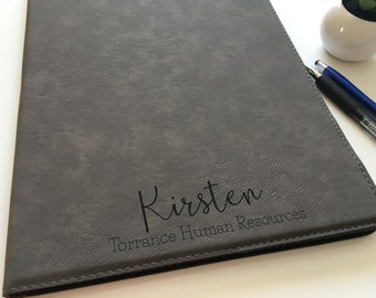 Personalized Portfolios for Women | Faux Leather Padfolio | Journal | Corporate Gift | Boss Gift Idea | Business Gift Ideas | Executive Gift