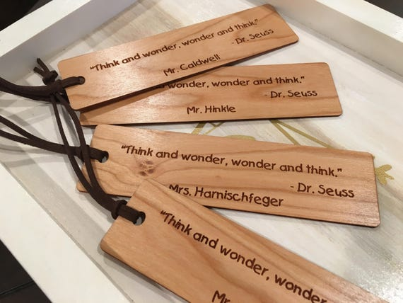 personalized bookmarks teacher gifts teacher appreciation etsy