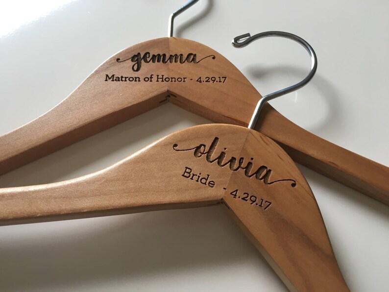 Wedding Hanger Bride Hanger Bridal Hanger Wedding Dress Hanger Bridesmaid Hangers Personalized Hanger Bridal Shower Gift Bride