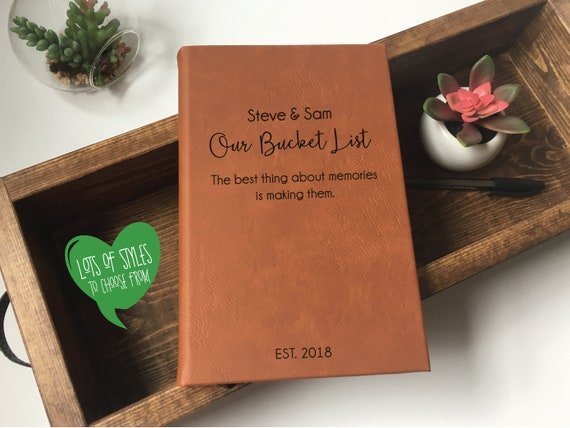 Our Bucket List Book Personalized Journal Custom Journals And Notebooks Personalized Wedding Gift Journalism Custom Gift For Her
