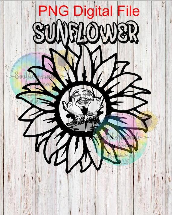 Posty Post Malone Sunflower Sublimation Digital Png Etsy