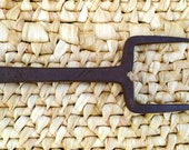 Antique Primitive Rare Hand Forged Wrought Sickle Scythe Anvil Farm Tool