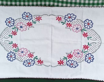 Vintage Hand-Embroidered Tapestry