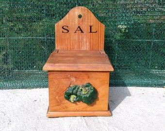 Vintage Wooden Kitchen Box
