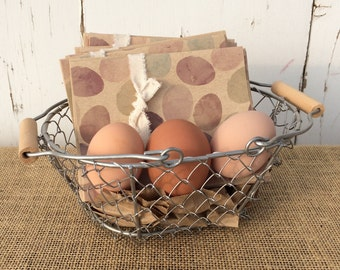 Farm Fresh Eggs Blank Note Cards – Pack of Four
