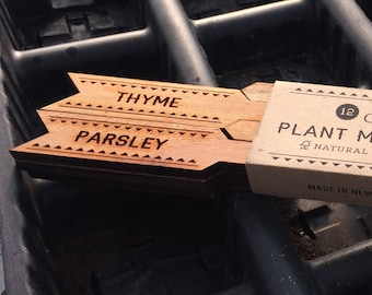 Plant Markers - Herbs - Set of 12