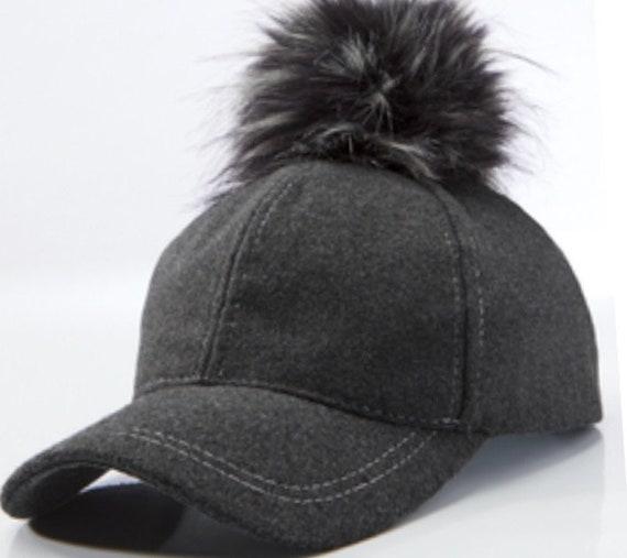 Baseball Hat with Pom Pom top  a4dced70e46